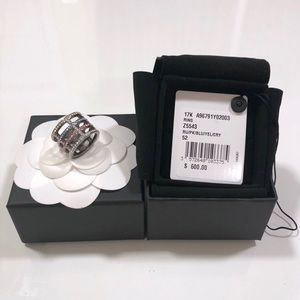 Authentic Chanel Iridescent Crystals Ring SHW